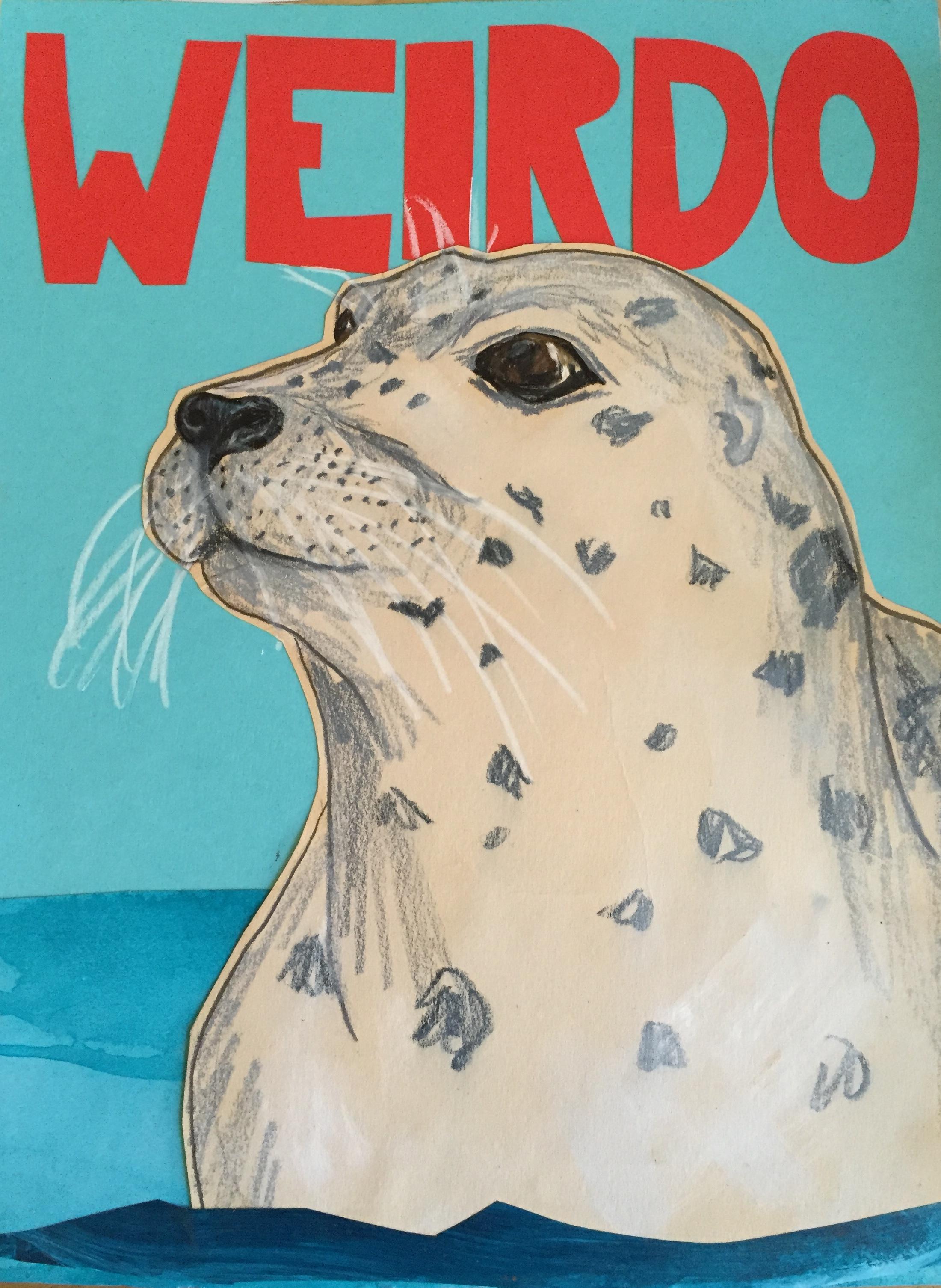 Sunde White illustration of seal to describe how wird they are